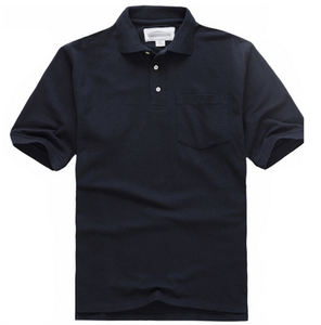 Wholesale Mens Black Blank Short Sleeve Golf Polo T Shirt 100% Cotton