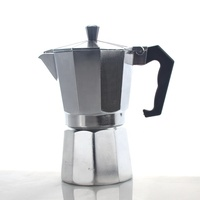 Coffee Maker Percolator, Suitable for Induction Cooker, Insulated C Handle Stovetop 6 Cups Espresso Maker Moka Pot