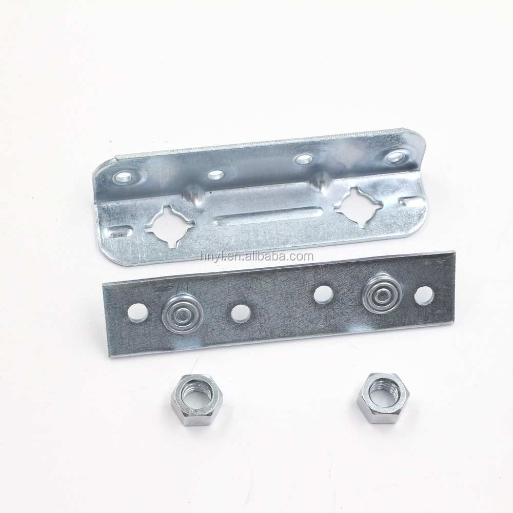 sofa bed hinge Folding bed hinge steel finish zinc plated with fixed bolt and nuts 1sets per color box.