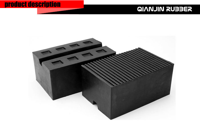 Customized material Rubber Vibration Absorber Rubber Block