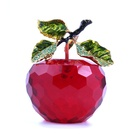 Hot Deal [ Apple ] China Wholesale Clear Custom Design K9 Crystal Crafts Crystal Red Apple