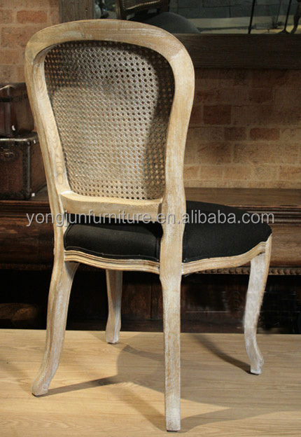 2015 French Wooden Louis Chair Wooden Rattan French Dining