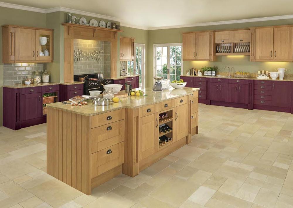 Amerika Serikat Maple Wood Dapur Cabinet Di Tiongkok Kabinet Desain Sederhana