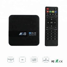 M18 Android 7.1 Amlogic S905w 64 bit Quad-Core Mali450 GPU Supporto 4 k 2g/8g <span class=keywords><strong>TV</strong></span> Box Set Top Box