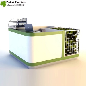 Elegant used bubble tea kiosk franchise&3d bubble tea kiosk design