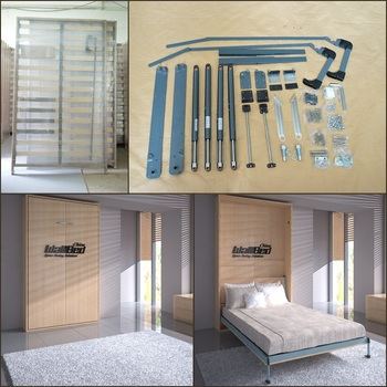 murphy bed mechanism wall bed double size folding bed kit