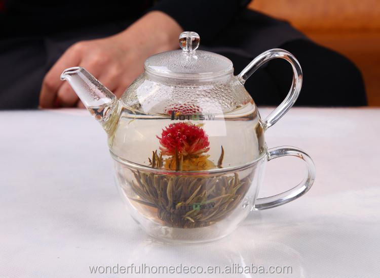 Factory direct wholesale glass tea for one tea set