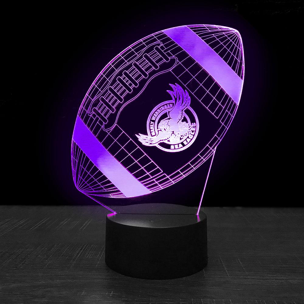 Quà tặng mới đèn 7 màu thay đổi trang trí Bóng Bầu Dục ánh sáng Ban
