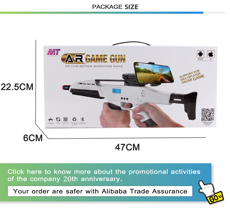 Hot selling shooting toy plastic electric reality indoor fun ar game gun