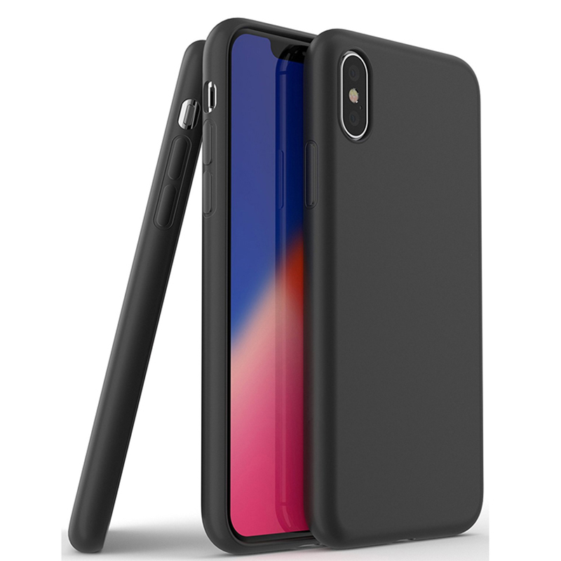 Black Soft Silicone TPU Phone Case For iphone Case Tpu Mobile Back <strong>Cover</strong> For Iphone X XS Max TPU Case