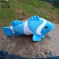 yiwu ningbo shanghai wholesale 33cm cotton simulate deep plush toy Manufacturer stuffed clown fish toy