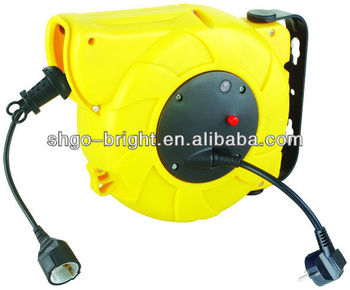auto-rewind cable reel retractable cable reel with CE GS SAA