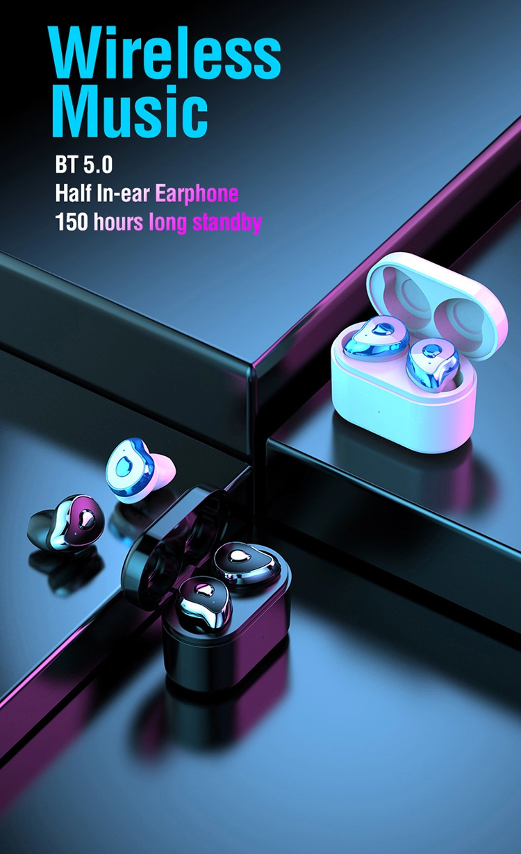 Custom Logo Bluetooth TWS Wireless in Ear Earphones SE-6 with 650mAh Charging Box Headphones RealTek Chip Earbuds