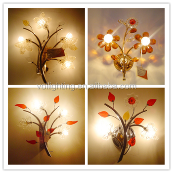 Modern Vintage Style Lighting Chandelier Flower Lamp Wall Fixtures Vol Bedside Lights Mounted Product On