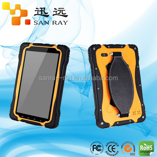 Geography application with touch screen UHF rfid portable tablet reader with 3G/GPS