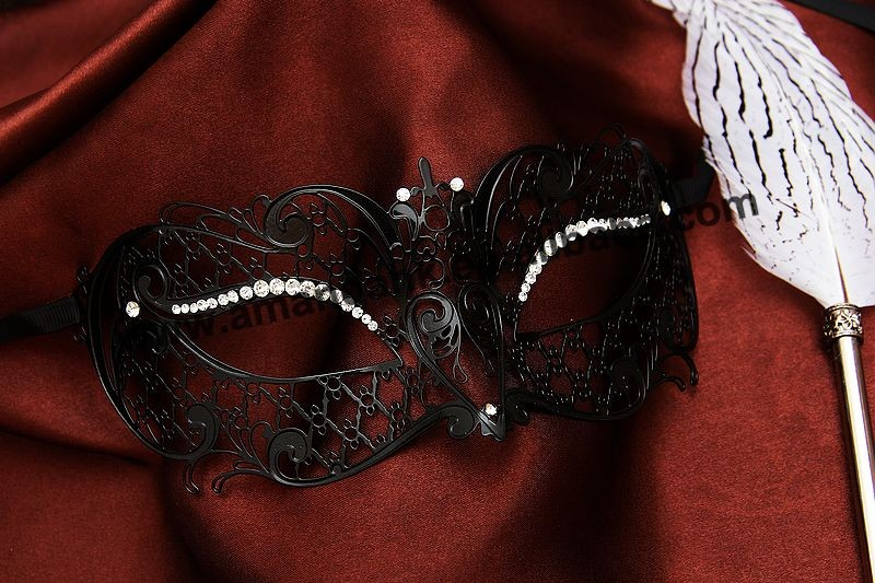 50pcs/lot 008B special metal mask for lady sexy Lady Eye Mask Venetian Masquerade Metal Mask Fancy Party Dress Costume New style