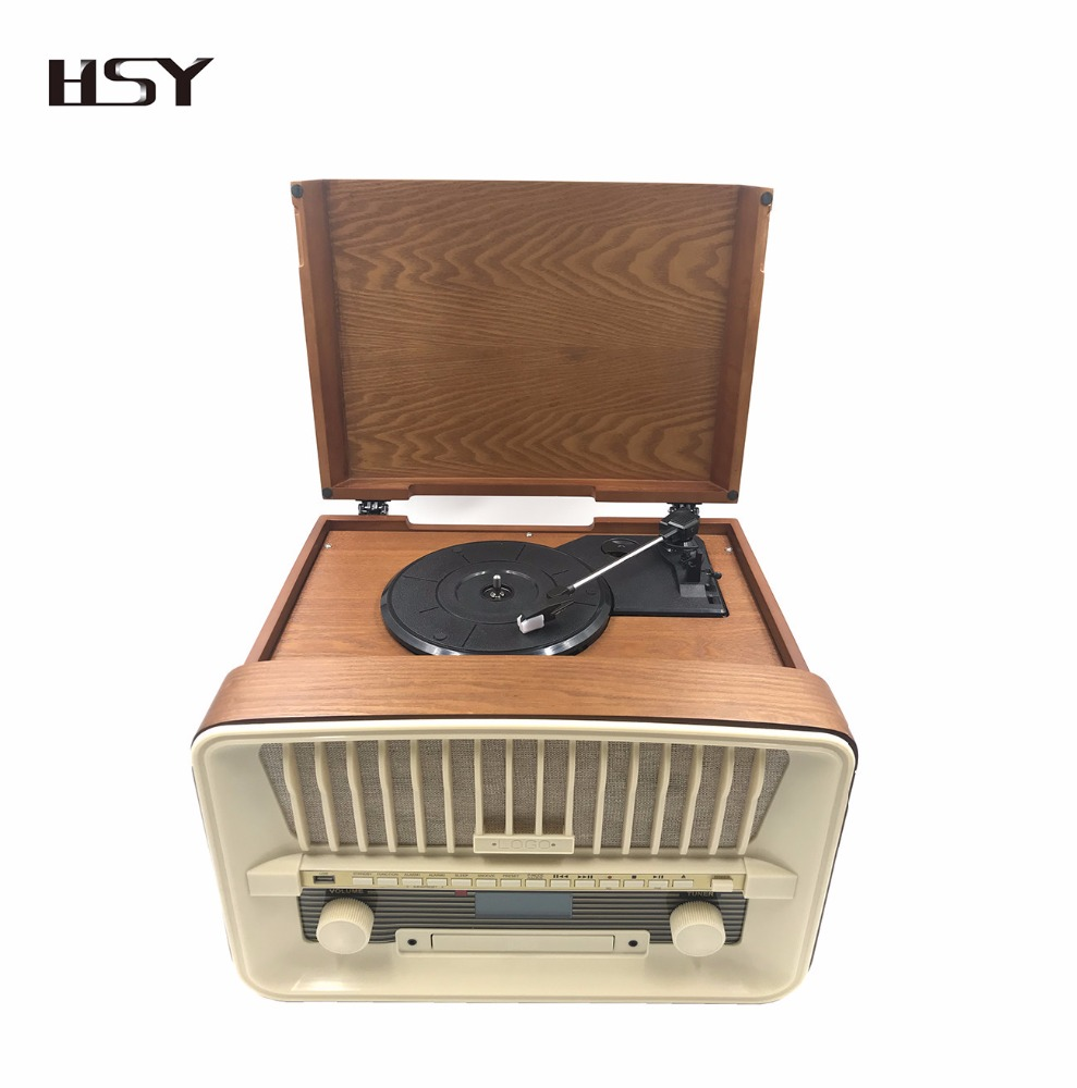Best quality wooden vinyl record player turntables wholesale