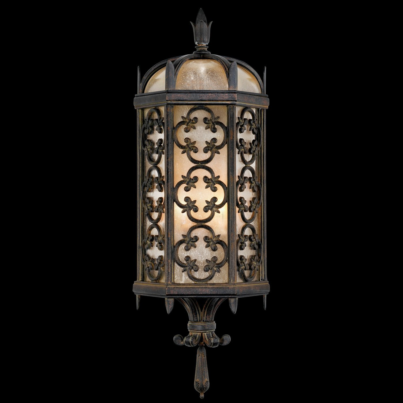 Fine Art Lamps 329681, Costa del Sol Outdoor Wall Pocket Sconce Lighting, 120 Total Watts, Iron