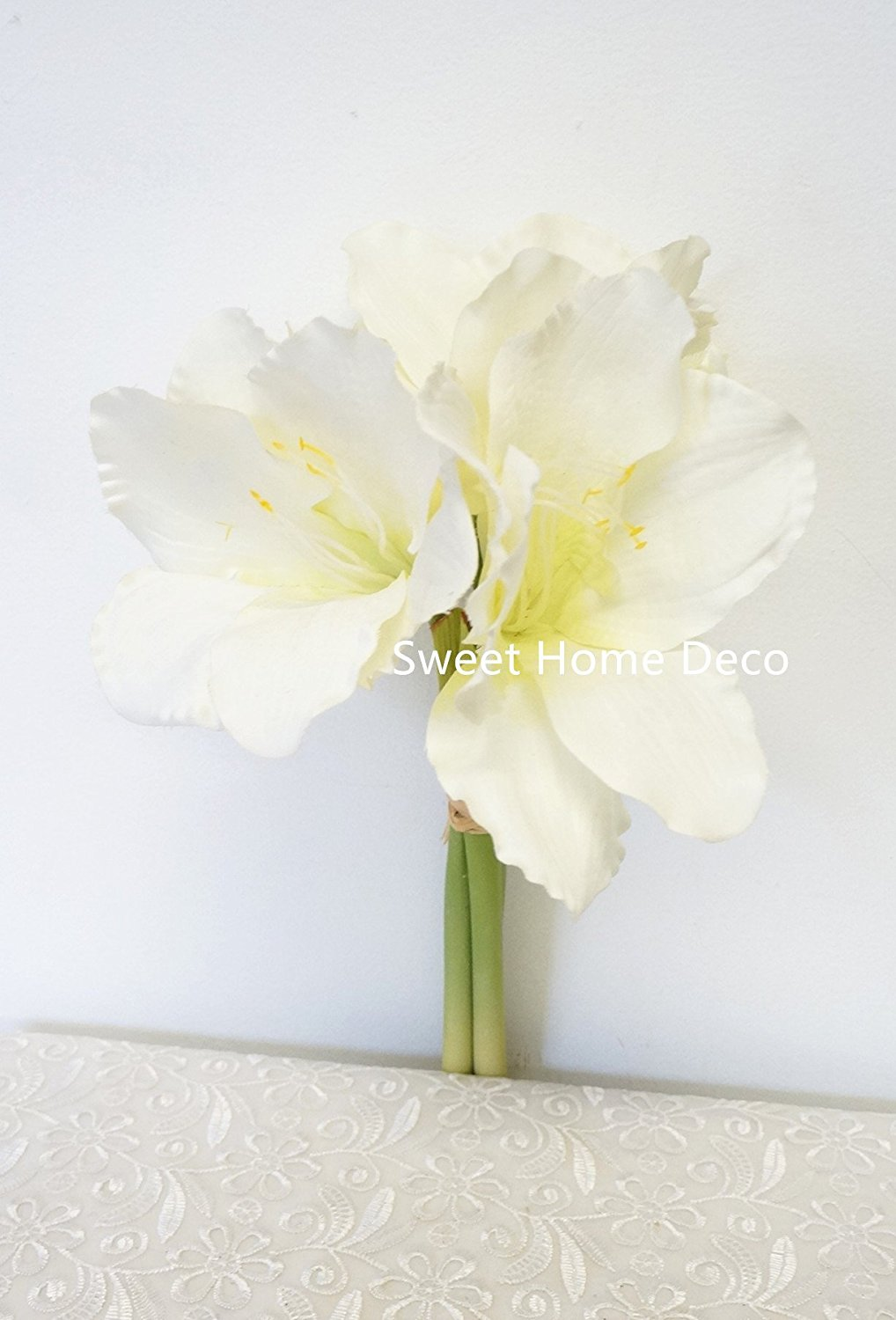 Buy Sweet Home Deco 14 Silk Amaryllis Artificial Flower Bouquet For