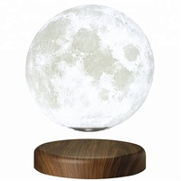 New Magnetic Levitation Floating 3D Moon Lamp PLA Moon Shaped Lamp