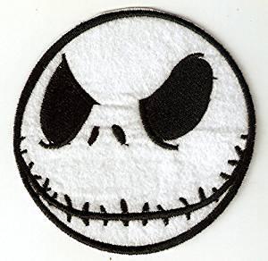 Jack the Skeleton - Nightmare Before Christmas Halloween Disney Embroidered Iron On / Sew On Patch - Jack Skellington - The Pumpkin King