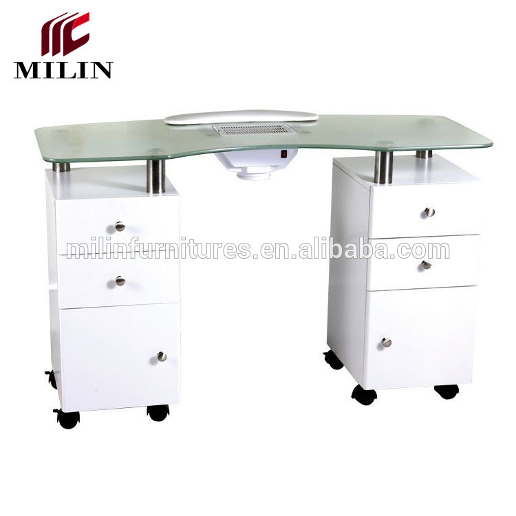 Glass Top Nails Table Salon Manicure Station With Exhaust Fan Nail For Sale Buy Product On Alibaba Com
