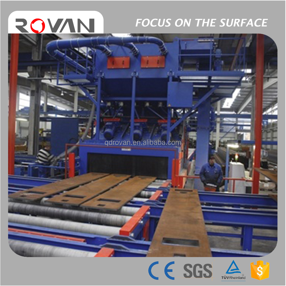 steel plate shot blasting machine, beams cleaning machine
