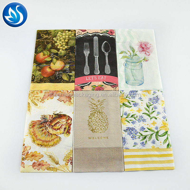 Restaurant use printed paper napkins