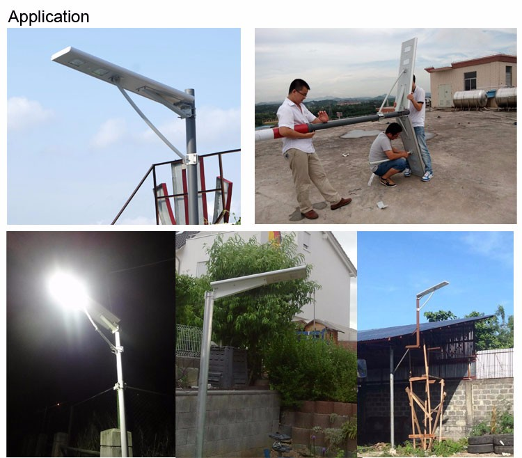 MIC solar street lights pole design