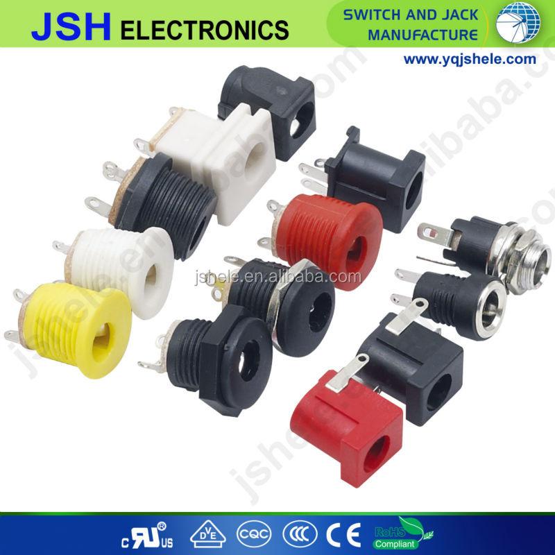 2x 2,5 mm x 5,5 mm round panel mount female socket dc connecteur jack plug