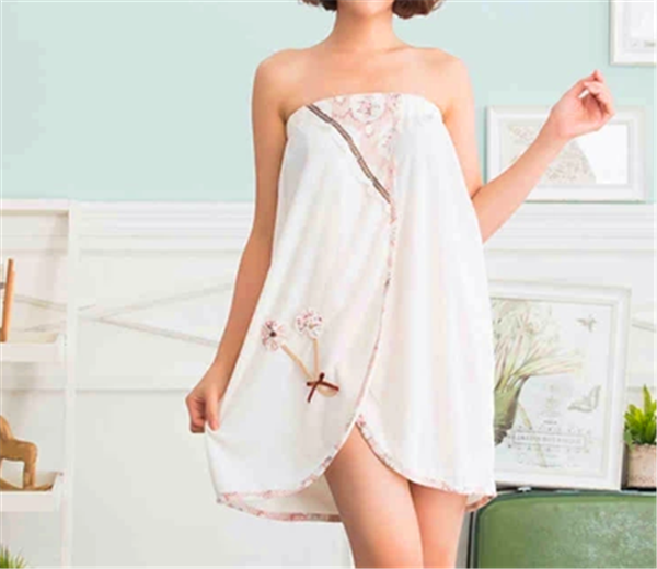 Vestido de la toalla de ba o toalla vestidos wrap toalla for Perchas toallas bano