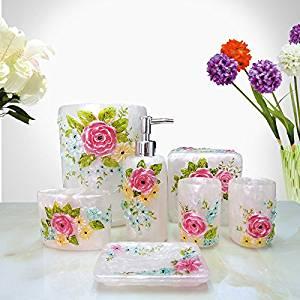 SBWYLT-Hot bathroom amenity set resin bathroom for seven-piece decorative gift bath toiletries Kit wholesale