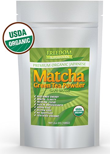 Matcha Green Tea Powder Weight Loss Metabolism Booster and Diet Smoothie Shake Mix and Fat Burning Supplement USDA Culinary
