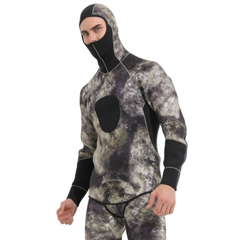 3mm Spearfishing Wetsuit Men Diving Suit Camo Neoprene Split Wetsuits Fishing and Hunting Camouflage Winter Surfing Clothing