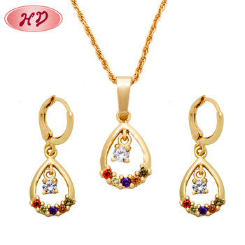 Whole Fashion Chinese Gold Color Diamond Jewelry Set Product On