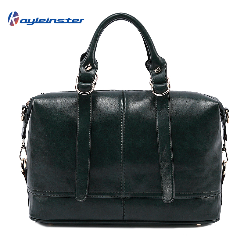 New 2015 Famous Brand Women Handbag Genuine Leather Shoulder Bag Fashion Handbag Vintage Wax Oil Leather Dark Green Women Bag