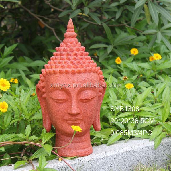 Modern Art Sculpture Buddha Head Garden Statue
