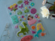 Customized cute cartoon epoxy sticker for kids home decor/party/car decor