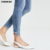 High quality women fashion casual wash stretch cotton skinny jeans denim pants