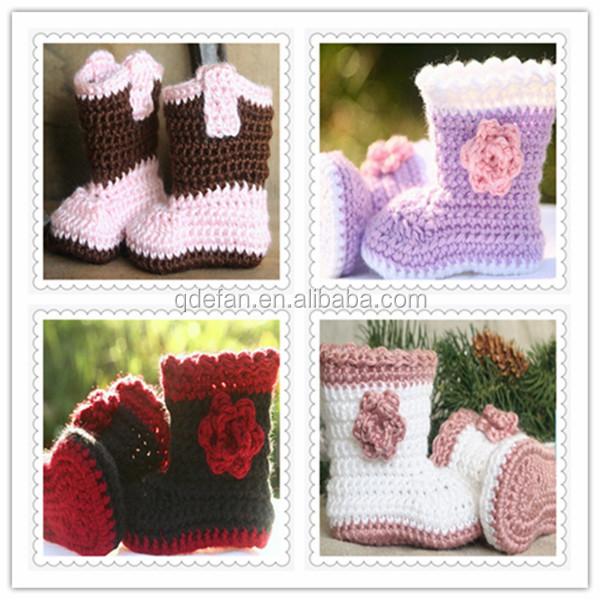 100 Baumwolle Handemade Häkeln Stricken Baby Schuheweiche Häkeln