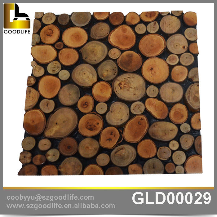 Eco Friendly Solid Wood Wall Tile Mosaic Tile Price For Tv