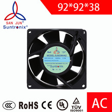 Suntronix AC cooling fan 92*92*38mm computer axial fan 220 ac Extractor Plastic Ventilation fans