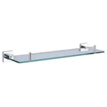 Modern Bathroom Wall Mounted Stainless Steel Corner Glass Shelf