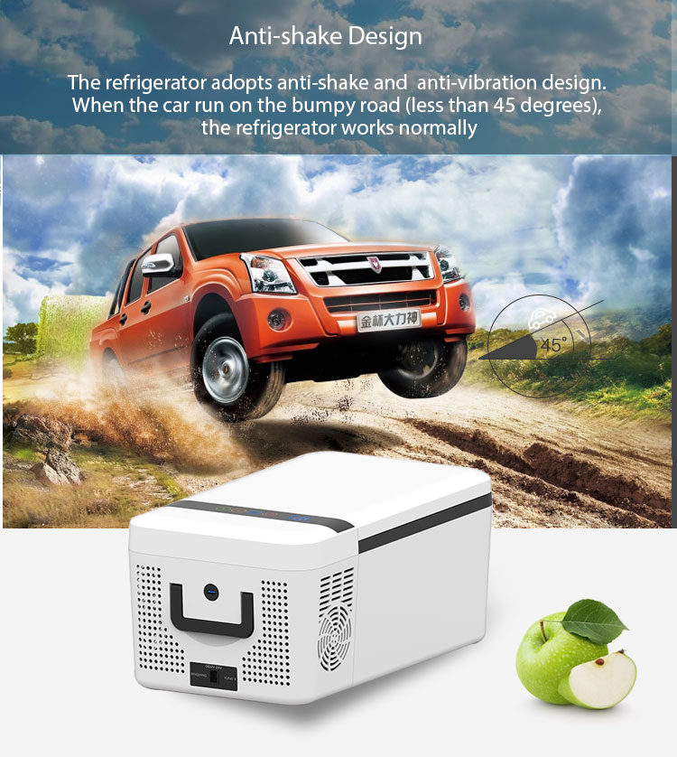 Camping portable 15L 12v mini car fridge freezer