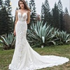 Wholesale custom size modern design style vintage popular elements wedding dress bridal lace wedding gown