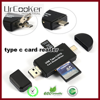 USB 3.0 Flash Memory Multi-Card Reader/Writer with USB-C - SD microSD and CompactFlash Card Reader