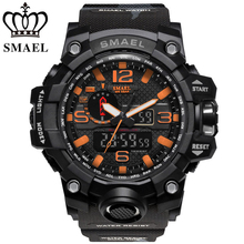 SMAEL Mannen Dual Time <span class=keywords><strong>Camouflage</strong></span> Militaire Digitale Sport <span class=keywords><strong>Horloge</strong></span>