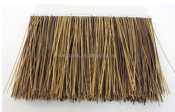 Fireproof Artificial Thatched Roofing Straw Synthetic Thatch Roof