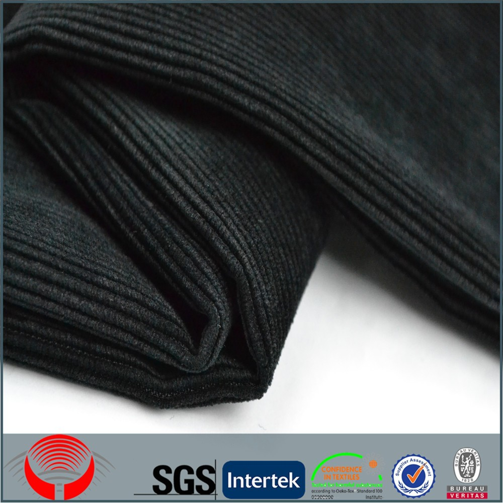 polyester 6 wale and 4 wale corduroy fabric