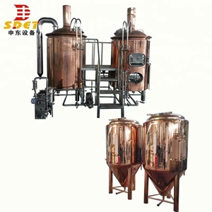 stainless steel beer making equipment lager system brewing with red copper